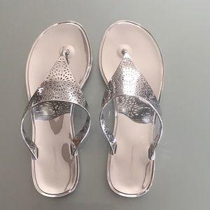BCBG Starr 2 jelly thong sandals.